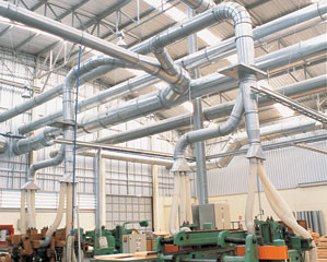 Ducting for industrial air cleaning