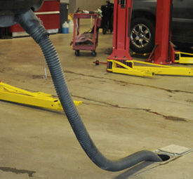 Under-floor vehicle exhaust systems are available in two configurations